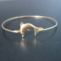american themed parties - Hot Sale Dolphin Bangle Sea Themed Bracelet Europe and the United States jewelry YPQ0122