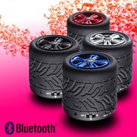 audio woofer - Car Bluetooth Speakers Wireless TF Card Slot Woofer Wheel Rolling Speaker For MP3 Players Computer Tablet PC DHL Free MIS112