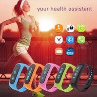 Wholesale smart watch E02 smart wrist smartband waterproof IP57 bluetooth fitness tracker sleep monitor health wristband For Android IOS phones