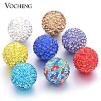 Wholesale Multicolor mm Chime Ball Copper Mexican Bola Ball Crystal Inlaid Pregnancy Ball in Pendants VA