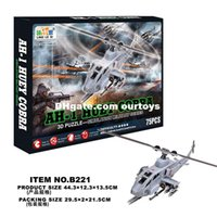 Wholesale Stereo jigsaw puzzle D three dimensional jigsaw puzzle B221 Cobra helicopter puzzle factory direct sales