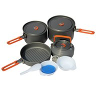 Wholesale Hot Sale Fire Maple Portable Outdoor Cooking Cookware Camping Pot Pan Kettle PicnicSet Aluminum for People