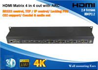 audio control matrix - 2015 New Arrival HDMI Matrix x4 with ARC Kx2K D P CEC support coaxial and audio out TCP IP control RS232 control