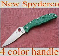 spyderco - 2014 New Spyderco C10FPOR Endura Flat knife Tactical Folding Knife VG Blade FRN Handle outdoor camping survival knives