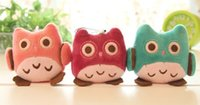 Wholesale 10PCS SUPER Kawaii OWL DOLL Plush Stuffed TOY BIG Phone Strap Pendant Charm BAG Key Chain TOY DOLL Weddng Bouquet TOY DOLL