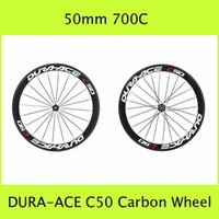 Wholesale Ace C50 Carbon Wheels mm Glossy Matt Finish C Wheelsets Outdoor Sports Kits Tubular Clincher Rim Carbon Road Bicycle Wheel Set With Hub
