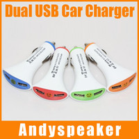 Wholesale Fan shaped Car charger Dual USB Port Universal Adapter A Car Charger For Apple iphone i6 plus S For Samsung Note up
