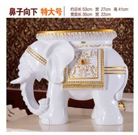 Wholesale Most popular Elephant Stool Hotel office Home Decor Resin Wood Animal style Chair gift cute Parlor GYA1003
