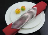 serviettes - 20pcs Diamond Mesh Wrap Napkin ring Serviette Buckle Holder Hotel Wedding Party Favour Decor