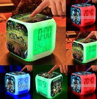 Wholesale Teenage Mutant Ninja Turtles TMNT LED Colorful Childrens Bedroom Alarm Clock