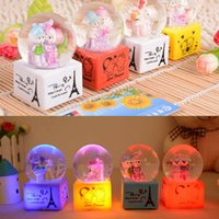 Wholesale Led lovers crystal ball Creative glass handicraft A birthday present Valentine s day gifts Christmas gift