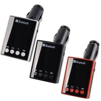 Wholesale Hot Sales LCD Bluetooth Car Kit MP3 player Speakerphone USB Charger for iPhone S S6 S5