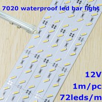 aluminum jewelry showcases - DHL Fedex sets SMD7020 led rigid strip light DC12V m leds and waterproof U shape aluminum slot with cover jewelry showcase lighting