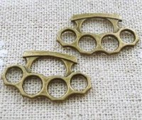 antique brass findings - Brass Knuckles Hand Thorn Charm Accessories Vintage Antique Bronze Charms For Bracelet Necklace Jewelry Making Finding X14mm