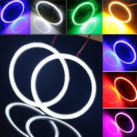 angels bright - 95MM V V Colors COB LED Angel Eyes Halo Rings Bulbs Waterproof Super Bright Car Headlights Car External Decoration Lights Lamp
