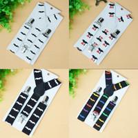 Wholesale 2015 New Fashion Children Kids Adjustable Clip on Y back Suspenders affandi Moustache pattern Baby Boy Girls Braces age Y E56