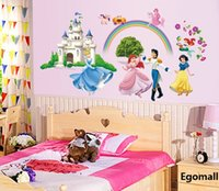 Wholesale 2015 creative Princess Wall Stickers Girl children bedroom D wall stickers home decor wall decals wallpaper princess home decoration