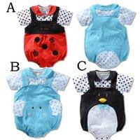 beetle shirt - Baby s Bodysuits Elephant Penguin amp Beetles Jumpsuit Cartoon Animal Pajamas T shirt Suits Cotton Top Quality