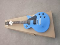 Wholesale Guitar factory sale metallic blue top electric guitar one piece neck LP guitar