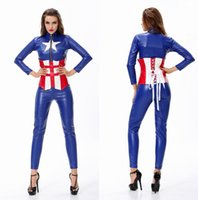 Wholesale Woman Sexy Role playing Game Uniforms The Avengers Captain America Costume Avengers Future Soldier Costumes COS10015
