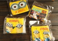 Wholesale Despicable Me PVC material Coin Purses The Minions Coin Purses Kids Cartoon Key Wallet Money Bag Wallet