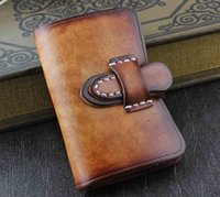 Key Holder leather key ring - Genuine Leather Wallet Mens Womens Key Rings Holder Chain Wallet Case yellow KW3
