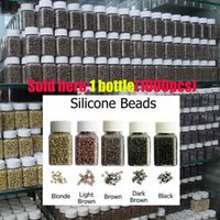 silicone bead - 500pcs mm mm mm human hair extension silicone micro rings links beads