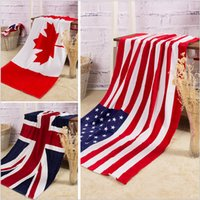 american flag towels - 200 TOPB3931 color cotton printed National American Canada England Flag beah towels bathing swim towels Shower Gym Fitness Camping Towels