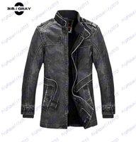 Wholesale Leather Jackets Men Coats Winter Warm Motorcycle Leather Jacket Men s Fashion Luxury Leather Mens Fur Coat Distressed PU Jacket