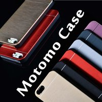 aluminum phone cases - Luxury Metal Motomo Aluminum Brushed Cell Phone Hard Case For iPhone s Plus inch Samsung S7 S6 Edge Note Free DHL MOQ