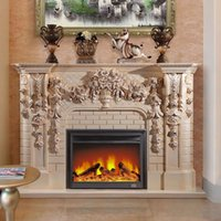 american fireplaces - 2 m high end European style fireplace wood engraving American decorative