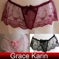 c-string - Grace Karin Sexy Women Lace Underwear Lingerie Panties Knickers Thong SU547