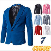 Wholesale New Fasion Blazer Men Special Single Button Multicolor Classic Casual Men s Suit Jacket Cotton Mens Blazer M XXXL dorp shipping