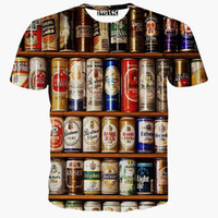 beauty beer - Newest fashion men women harajuku t shirt print funny Cat Hulk beauty beer skull Cartoon d animal t shirt tops plus size