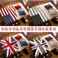 Wholesale Double Layer Union Jack Blanket bedspread air conditioning blanket outdoor blanket UAS baby child blanket