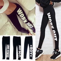 Wholesale 2015 Spring Winter Women Sports Pants Work out Printed Black Casual Bottom Fitness Leggings Camping Hiking Pants Plus Size