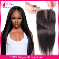 Wholesale Cheap Brazilian Straight Lace Closure Virgin Human Hair Lace Closure Bleached Knot With Baby Hair Free Middle Part Lace Top Closures Piece