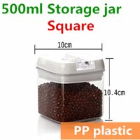 bamboo kitchen accessories - 500ml mini Plastic jars and lids Food Candy storage Tea container Caning Sealing Violetta Mason Jars Kitchen accessories TB8708