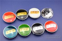 Wholesale Carbon fiber mm bbs Wheel Center Cap Hub Cap Emblem Fit Replaced Rims With quot Black with Gold Letter