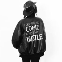 womens leather jackets - 2015 winter womens faux leather jacket women PU bomber jackets woman harajuku outerwear black casual street style oversized top