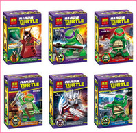 Wholesale 2015 hot selling Action Figures Minifigures styles a set suit with arms skateboard Mirage Teenage Mutant Ninja Turtles fast ship