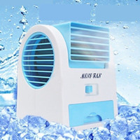 Wholesale Mini USB Fan Electric Bladeless Air Conditioner Cooling Fan No Leaf Portable Table Refrigeration Fan