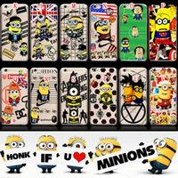 For Apple iPhone minions case - For iphone S S Plus S Despicable Me Minions Soft TPU Case Print Cartoon Clear Cute Batman Superman UK USA Flag Lovely Cover