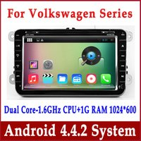 Wholesale Android Car DVD Player GPS Navigation for VW Beetle Volkswagen Passat Polo EOS Golf Jetta TouranTiguan Scirocco w Radio BT WIFI Stereo