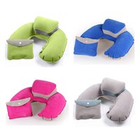 Wholesale new arrival good quality inflatable pillow travel pillow neck pillow U shape business trip cushion neck cushion outdoor