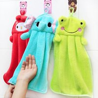 Cheap Colorful Cute Animal Nursery Hand Towel, Kids Children Hand Dry Towel,Hanging Cartoon Towel For Kitchen  Bathroom