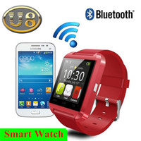 Wholesale 1 inch U8 Bluetooth Smart Wrist Watch Watches Smartwatch for iPhone Samsung LG HTC Android Cell Phone Smartphones DHL FREE JBD U8