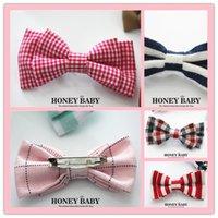 Wholesale 2016 Fashion handmake korean bownot children stainless steel safety pins needles infant pins head locking baby cloth pins