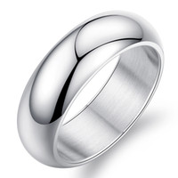beautiful finger rings - beautiful engagement Mens mm Silver Titanium Stainless Steel Wedding Rings in Finger High Polished Domed k White Gold Band