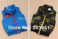 Wholesale Children Kids Clothes Baby Coat Spring Fall Coat Boy Vest Fashion Blue Black